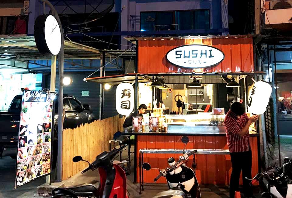 ซูชิ ร้าน SUSHI SUN sushi 'n roll