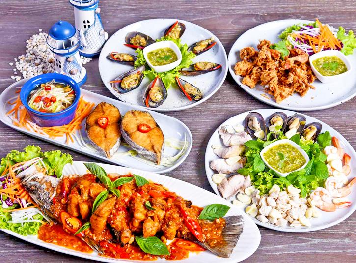 ร้านอาหารทะเล บางเสน-อ่างศิลา